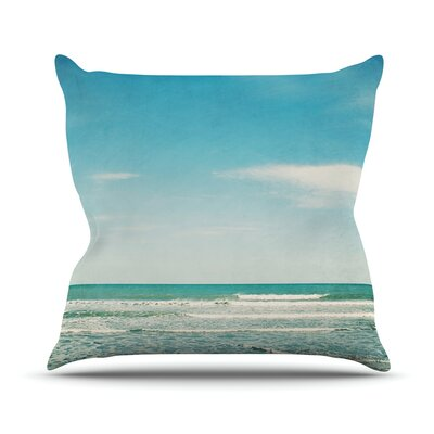 The Teal Ocean by Susannah Tucker Throw Pillow Size: 20 H x 20 W x 4 D