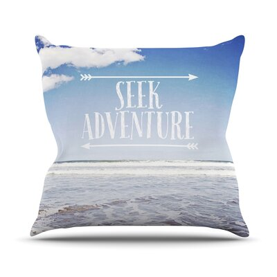 Seek Adventure by Susannah Tucker Beach Throw Pillow Size: 18 H x 18 W x 3 D
