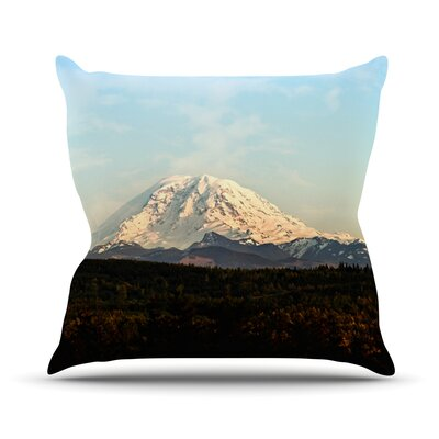 Mt. Rainier by Sylvia Cook Mountain Photo Throw Pillow Size: 20 H x 20 W x 4 D