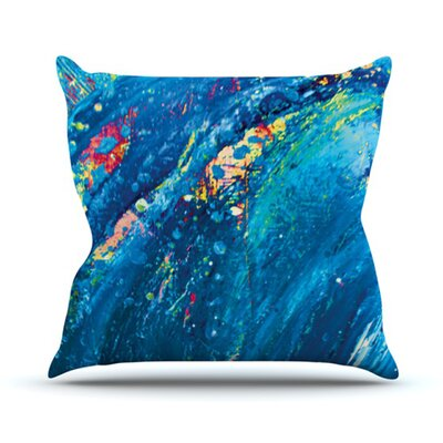 Big Wave Throw Pillow Size: 16 H x 16 W