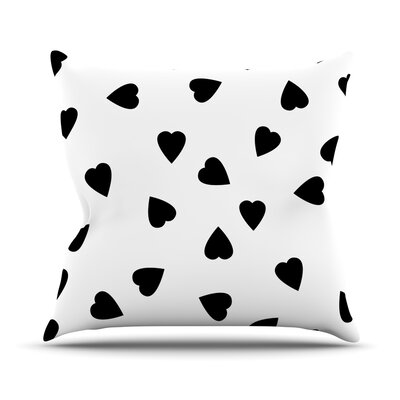 Hearts by Suzanne Carter Throw Pillow Size: 18 H x 18 W x 3 D, Color: White
