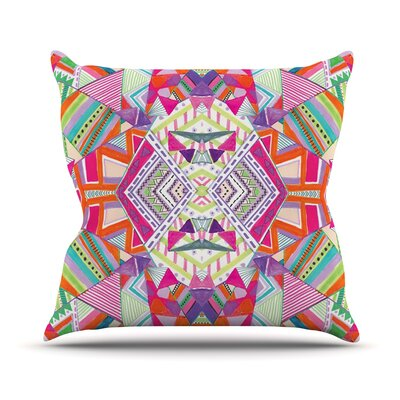 Carrousel by Vasare Nar Geometric Rainbow Throw Pillow Size: 18 H x 18 W x 3 D