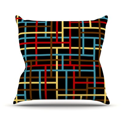Veza by Trebam Modern Lines Throw Pillow Size: 16 H x 16 W x 3 D