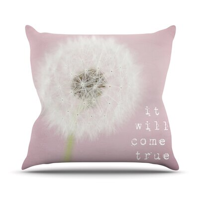 It Will Come True by Susannah Tucker Flower Throw Pillow Size: 26 H x 26 W x 5 D