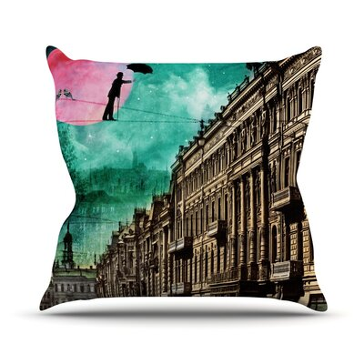 Moonlight Stroll by Suzanne Carter Surreal Throw Pillow Size: 26 H x 26 W x 5 D
