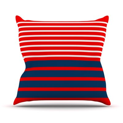 Nauticki by Trebam Lines Throw Pillow Size: 16 H x 16 W x 3 D