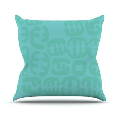 Oliver Throw Pillow Size: 18 H x 18 W, Color: Teal