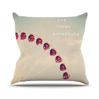 She Loved Adventure by Susannah Tucker Ferris Wheel Throw Pillow Size: 26 H x 26 W x 5 D