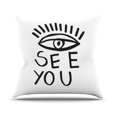 Eye See You by Vasare Nar Throw Pillow Size: 16 H x 16 W x 3 D