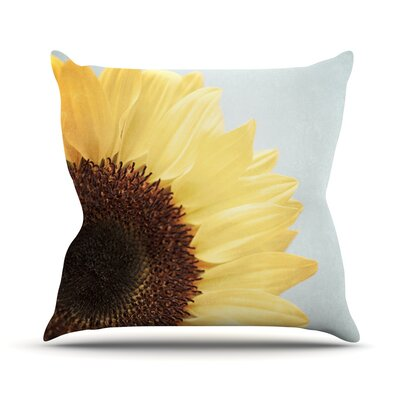 Sunshine by Susannah Tucker Sunflower Throw Pillow Size: 26 H x 26 W x 5 D