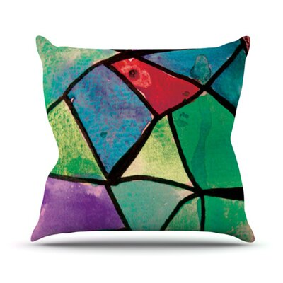 Stain Glass 1 Throw Pillow Size: 26 H x 26 W