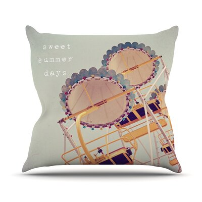 Sweet Summer Days by Susannah Tucker Carnival Throw Pillow Size: 18 H x 18 W x 3 D