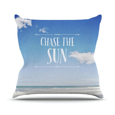 Chase the Sun by Susannah Tucker Beach Sky Throw Pillow Size: 20 H x 20 W x 4 D