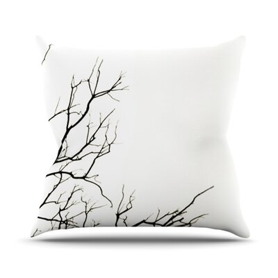 Winter Throw Pillow Size: 16 H x 16 W, Color: White