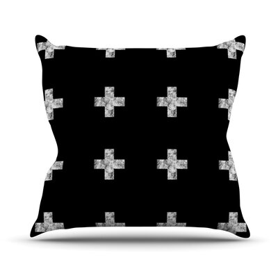 Swiss Cross by Skye Zambrana Throw Pillow Size: 16 H x 16 W x 3 D, Color: Black