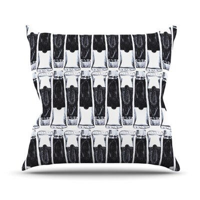 Paint Tubes by Theresa Giolzetti Throw Pillow Size: 16 H x 16 W