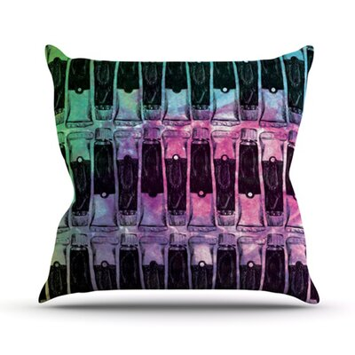 Paint Tubes II Throw Pillow Size: 26 H x 26 W