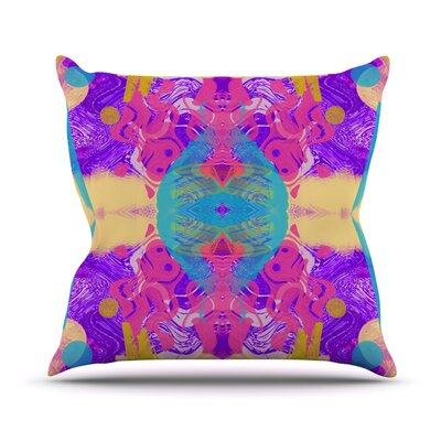 Glitch Kaleidoscope by Vasare Nar Throw Pillow Size: 16 H x 16 W x 3 D