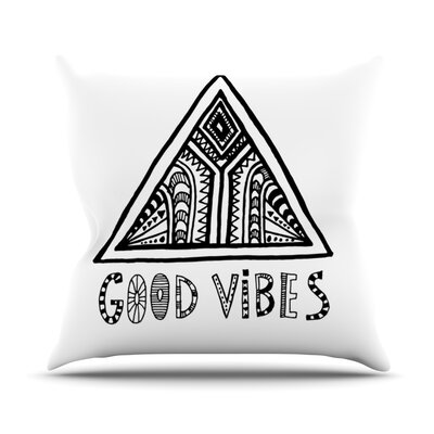 Good Vibes by Vasare Nar Throw Pillow Size: 18 H x 18 W x 3 D