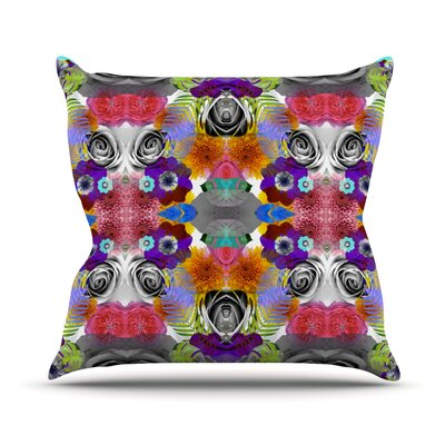 Tropical Flowers by Vasare Nar Throw Pillow Size: 20 H x 20 W x 4 D