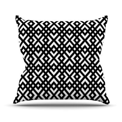 Dijagonala by Trebam Geometric Throw Pillow Size: 16 H x 16 W x 3 D