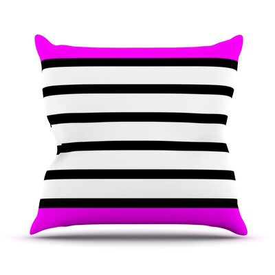 Sest Redaka by Trebam Throw Pillow Size: 16 H x 16 W x 3 D, Color: Pink