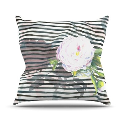 Peony N Throw Pillow Size: 18 H x 18 W