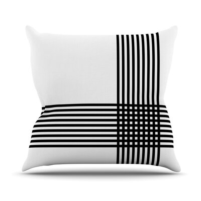 Krizanje by Trebam Minimal Lines Throw Pillow Size: 26 H x 26 W x 5 D