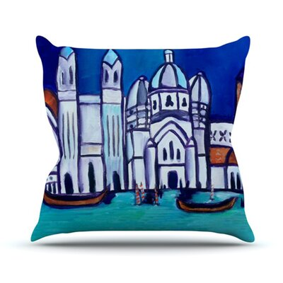 Venice Throw Pillow Size: 16 H x 16 W