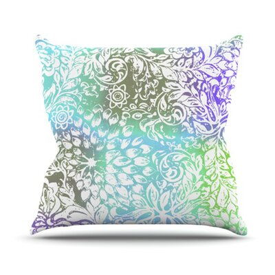 Bloom Softly for You Throw Pillow Size: 18 H x 18 W