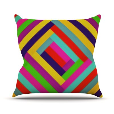 Nakriv by Trebam Rainbow Abstract Throw Pillow Size: 16 H x 16 W x 3 D