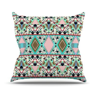 Deco Hippie Throw Pillow Size: 18 H x 18 W
