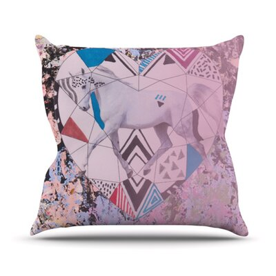 Unicorn Throw Pillow Size: 16
