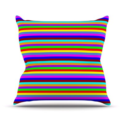 Bombon by Trebam Rainbow Stripes Throw Pillow Size: 26 H x 26 W x 5 D