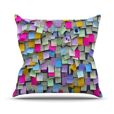 Respekt by Trebam Rainbow Paper Throw Pillow Size: 16 H x 16 W x 3 D