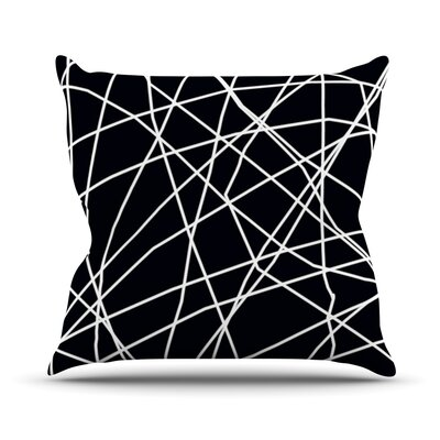 Paucina by Trebam Crazy Lines Throw Pillow Size: 18 H x 18 W x 3 D