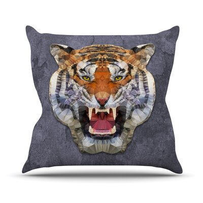 Abstract Tiger by Ancello Throw Pillow Size: 18 H x 18 W x 1 D