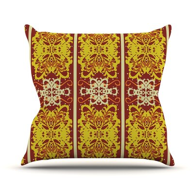 Butterfly Dog Damask by Mydeas Throw Pillow Size: 26 H x 26 W x 1 D