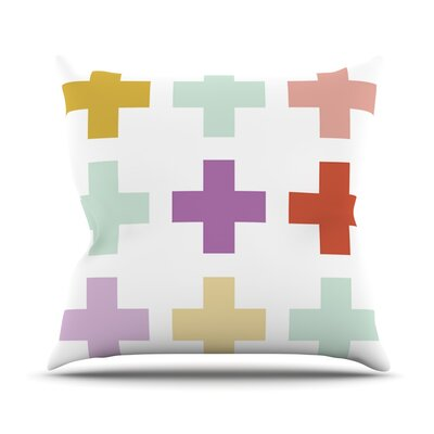 Mint Orchid Plus by Pellerina Design Throw Pillow Size: 26 H x 26 W x 1 D
