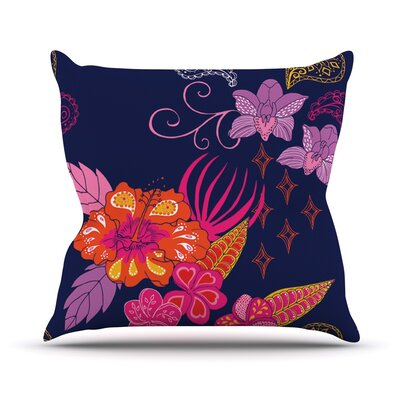 Tropical Paradise Floral Throw Pillow Size: 18 H x 18 W x 1 D