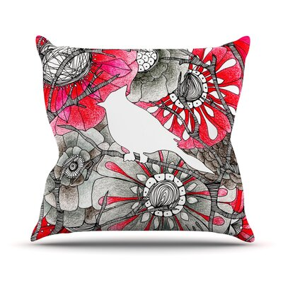 Cardinal by Anchobee Throw Pillow Size: 16 H x 16 W x 1 D