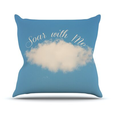 Soar With Me Cloud Throw Pillow Size: 26 H x 26 W x 1 D