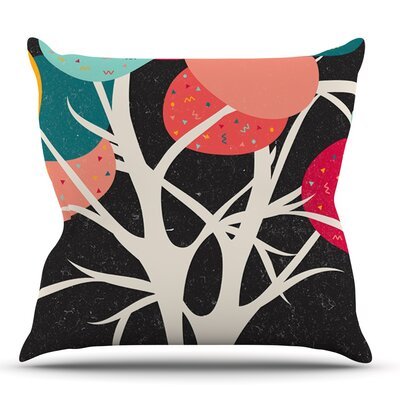 Lovely Tree by Danny Ivan Branches Throw Pillow Size: 18 H x 18 W x 1 D