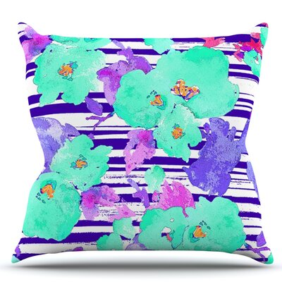 Cherry Blossom by Emine Ortega Throw Pillow Size: 18 H x 18 W x 1 D