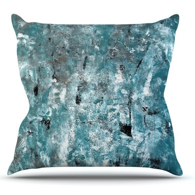 Shuffling by CarolLynn Tice Throw Pillow Size: 18'' H x 18'' W x 1