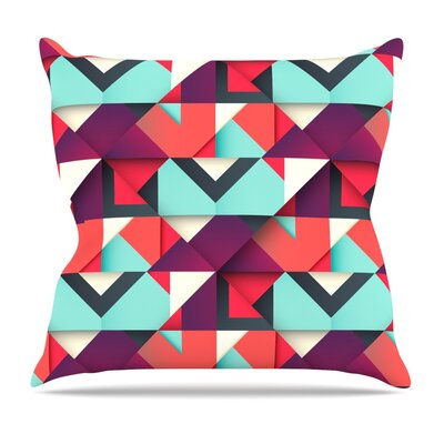 Shapes by Danny Ivan Throw Pillow Size: 16'' H x 16'' W x 1