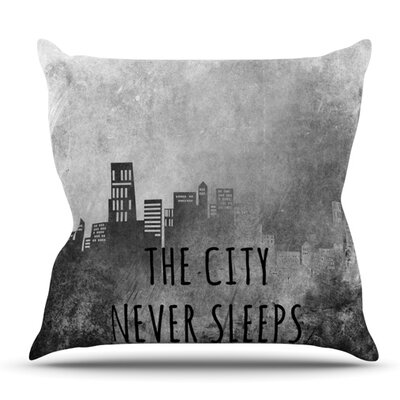 The City Never Sleeps by Alison Coxon Throw Pillow Size: 26 H x 26 W x 1 D