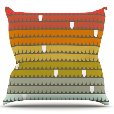Rainbow Scallops by Pellerina Design Throw Pillow Size: 18 H x 18 W x 1 D