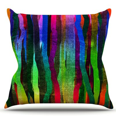 Jungle Stripes II by Frederic Levy-Hadida Rainbow Throw Pillow Size: 16 H x 16 W x 1 D