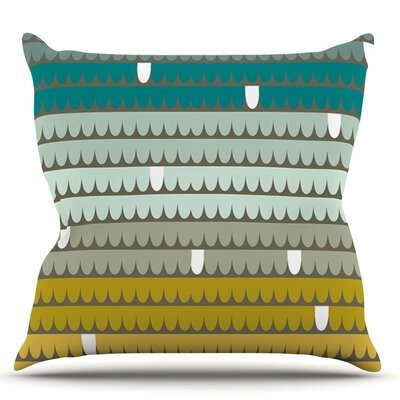 Scallops by Pellerina Design Throw Pillow Size: 16 H x 16 W x 1 D